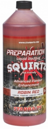 STARBAITS Booster PREP X SQUIRTZ 1L ROBIN RED