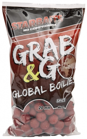 Starbaits Global Grab & Go Boilies 1kg 20mm Spice