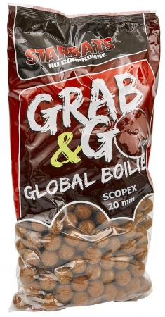 Starbaits Grab & Go Global Boilies 10kg 20mm Scopex
