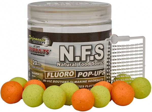 STARBAITS Plovoucí boilies Fluo N.F.S 80g 14mm
