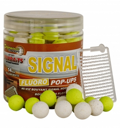 Starbaits Boilies Fluo pop up Signal 80g 14mm
