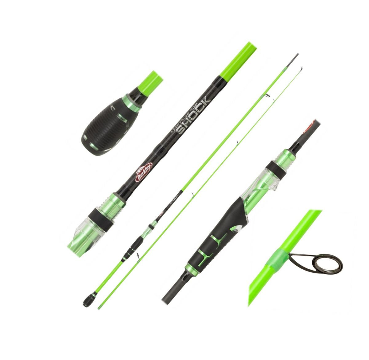 Přívlačový prut Berkley Lighting Shock Green Spin M 2,10m 10-35g